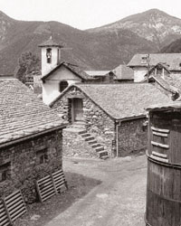 Reconstruction de deux villages alpins, Suisse